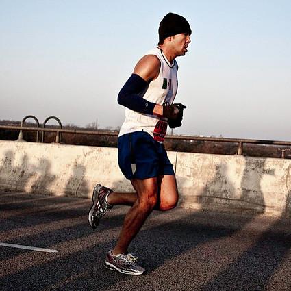 Man at the Austin marathon